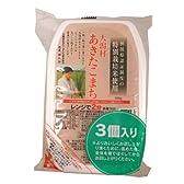 特別栽培米 大潟村あきたこまち 無菌米飯 180g×3食パック