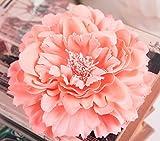 moiitee ヘッドドレス 髪飾りお花 ヘアクリップ ヘアアクセサリーレディース ヘアピン ヘアアクセサリー 和装 成人式結婚式 造花 直径10cm