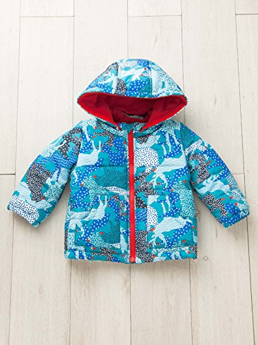 LITTLE BEAR CLUB (リトルベアークラブ) ベビー アニマル 幾何柄 中綿 ジャケット 赤ちゃん ベビー服