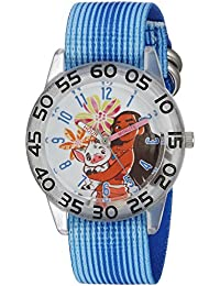 ディズニーGirl 's ' Moana ' QuartzプラスチックとナイロンカジュアルWatch , Color : Blue ( Model : wds000044 )