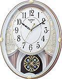 リズム時計 ( RHYTHM ) からくり時計 スモールワールドエクラ 18曲入り 白色 4MN548RH03