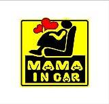 ノーブランド 黄 MAMA IN CAR ステッカー/Premama IN CAR プレママインカー 妊婦が乗ってます マタニティ