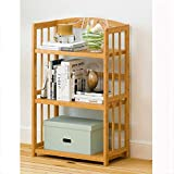 竹収納棚本棚 - DIY調整可能な多層オーガナイザー本棚 - 竹ランディング収納ラック - オフィスキッチン (Color : 50*25*98cm)