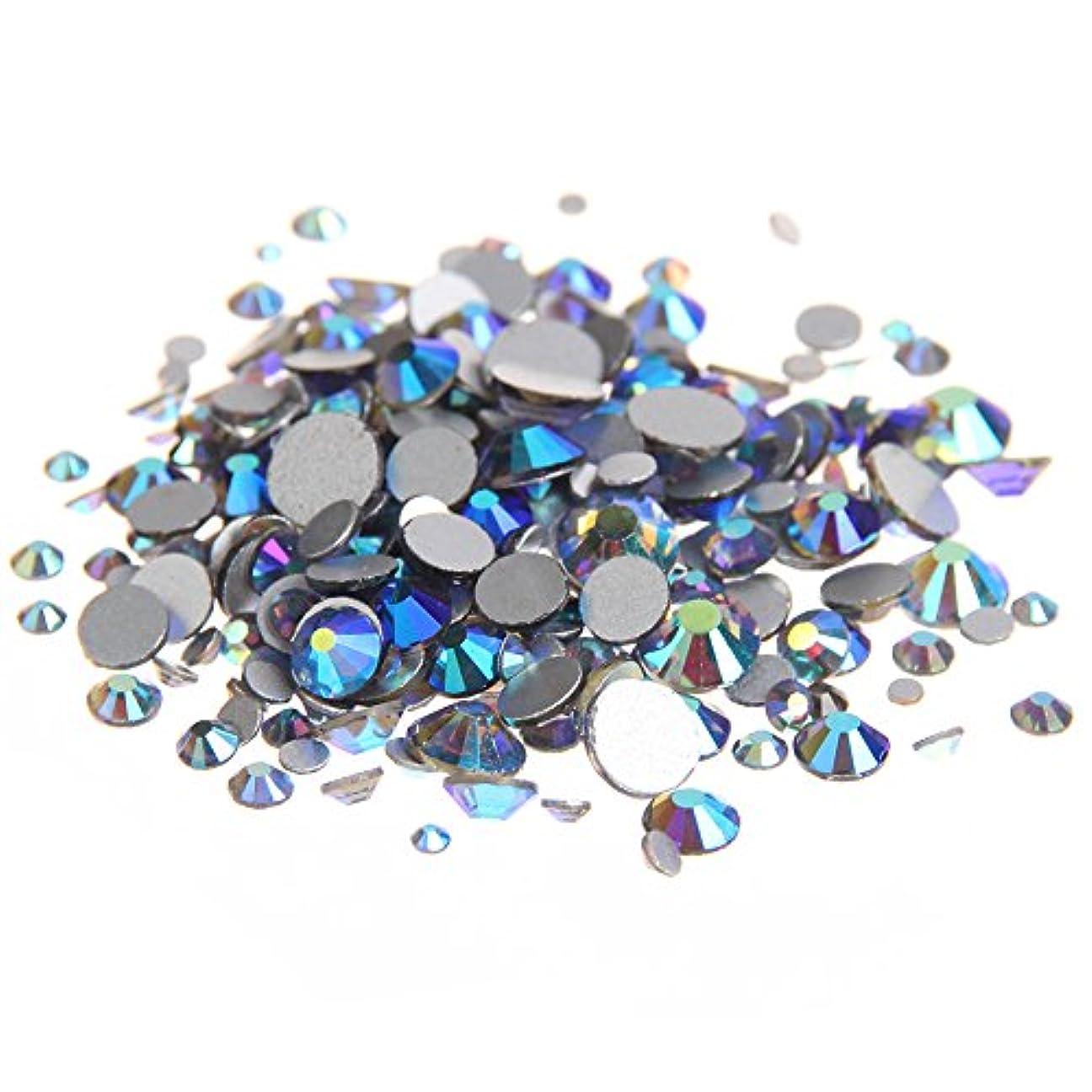 左種をまく商人Nizi ジュエリー ブランド ブラックダイヤモンドオーロラ ラインストーン は ガラスの材質 ネイル使用 型番ss3-ss30 (SS30 288pcs)