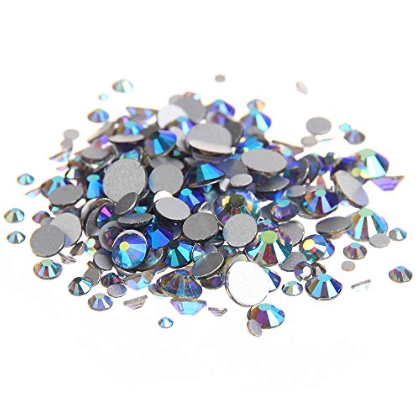 依存する調停するフィクションNizi ジュエリー ブランド ブラックダイヤモンドオーロラ ラインストーン は ガラスの材質 ネイル使用 型番ss3-ss30 (混合サイズ 1000pcs)