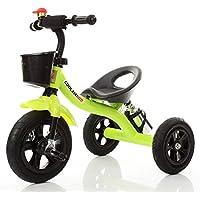 乳母車 子供たちの三輪車の赤ちゃんキャリッジ赤ちゃんバイク赤ちゃんのおもちゃの車 使いやすい (色 : Green)