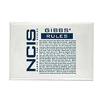 CafePress NCIS ネイビー犯罪捜査班「Gibbs' Rules」マグネット 長方形マグネット 2インチx3インチ 冷蔵庫用マグネット
