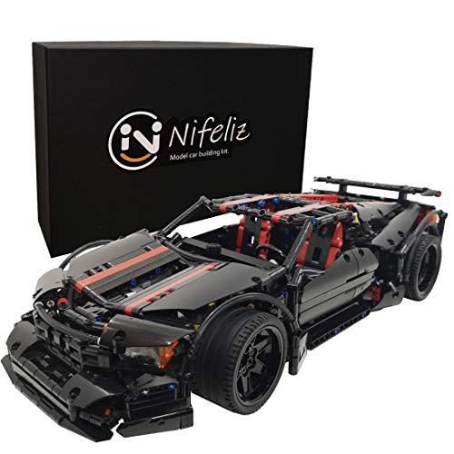 Nifeliz X19 MOC スポーツカー テクニック知育玩具 ブロック おもちゃ 男の子 スケール1:9 レースカー モデル (1814 pcs)