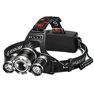 Patech LEDヘッドライト LEDヘルプライト スポットライト 4種の点灯モード 400ルーメン 防災/アウトドア/作業/釣り/キャンプ/散歩に適用 日本語取説付き