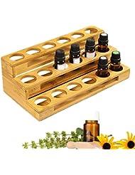 PROKTH エッセンシャルオイル ケース 精油ケース 和風 木製 エッセンシャルオイル 香水収納 収納ボックス 回転式 大容量 コンパクト