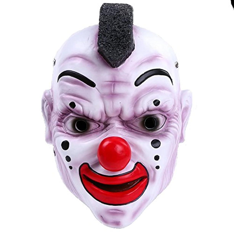 平野業界西部ハロウィンバーパーティーマスクスカルバンドマスク赤い鼻ピエロマスク樹脂工芸品マスク