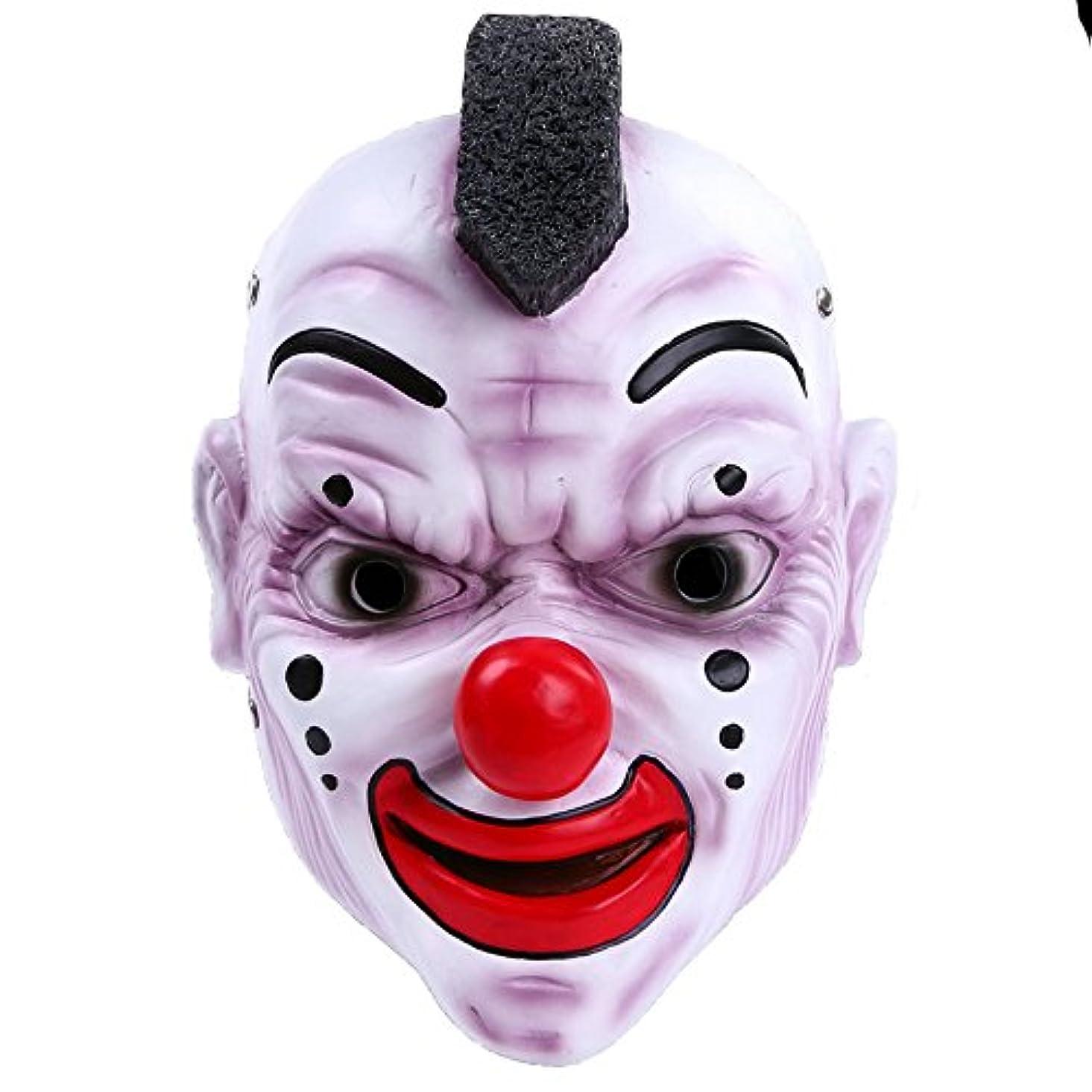 上回る息子設計ハロウィンバーパーティーマスクスカルバンドマスク赤い鼻ピエロマスク樹脂工芸品マスク