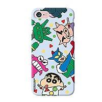 【iPhoneX/XS・アイフォンX/XS】クレヨンしんちゃん わいわい スリム ハード ケース iPhoneケース Galaxyケース 〈パジャマ〉