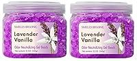 SMELLS BEGONE Odor Eliminator Gel Beads - 12 Ounce (Lavender Vanilla Scent - 2 Pack)