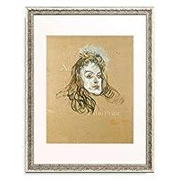 アンリ・ド・トゥールーズ=ロートレック Henri Marie Raymond de Toulouse-Lautrec-Monfa 「May Belfort」 額装アート作品