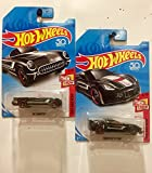 2018 Hot Wheels Then And Now - '55 Corvette & Corvette C7 Z06 (Black) - Set of 2! [並行輸入品]