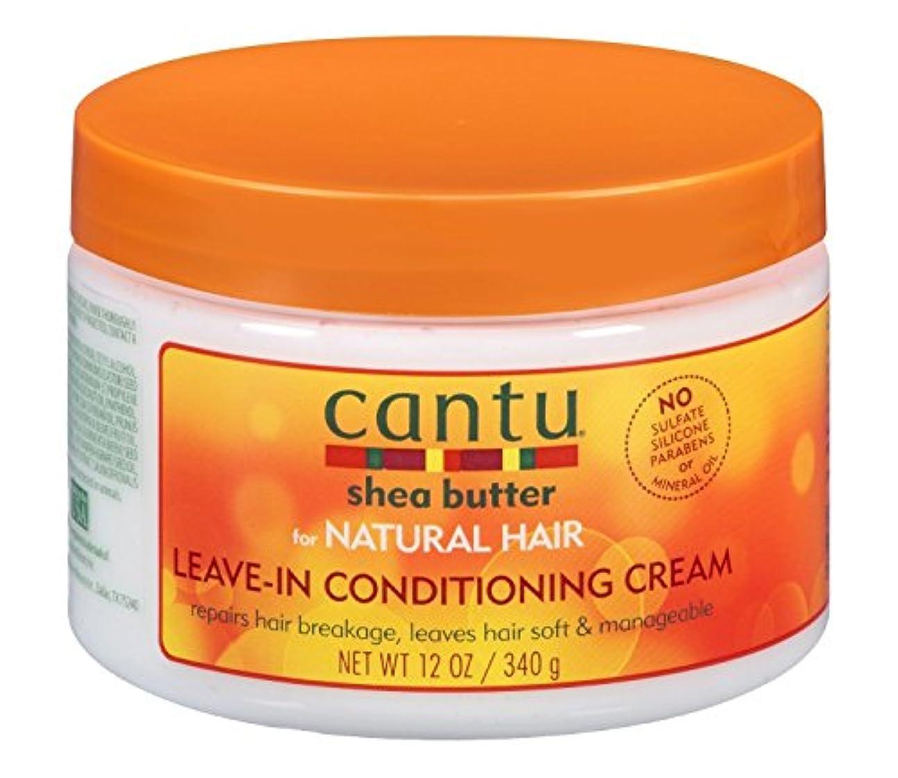 バブル怒って統合Cantu コンディショニングリペアクリームでナチュラルヘアを残すためにシアバター、12オンス