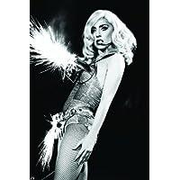 Lady GagaスーパーMusic Starニースシルク生地壁ポスター印刷 36 inch x 24 inch