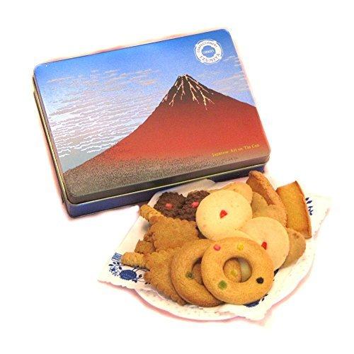 クッキー缶 浮世絵 赤富士(北斎)