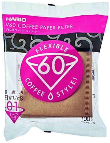ハリオ ペーパーフィルター1~2杯用 100枚入り