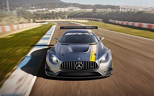 [해외]회화 풍 벽지 포스터 (벗길 스티커 식) 메르세데스 벤츠 AMG GT3 튜닝 카 캬라쿠로 MBGT-002W2 (와이드 판 603mm × 376mm) 건축 배경 화면 + 내후성 도료/Painting Wind Wallpaper Poster (Sticky Seal Type) Mercedes Benz AMG GT 3 Tuning Car Ch...
