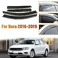 のために適した フォルクスワ ー ゲン Volkswagen Bora ボーラ 2016-2019 4個 ドアバイザー サイドバイザー ワイドタイプ スモーク雨除け 換気 パーツ アクセサリー