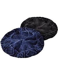 ベレー帽 メンズ 春夏 レディース ニット ケーブル編み インディゴ染め 帽子