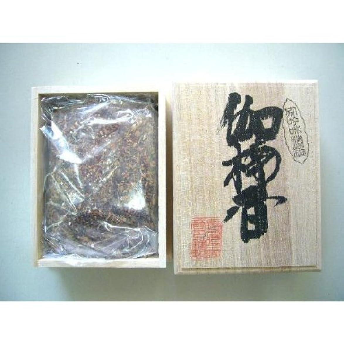 横マイクロプロセッサ変形焼香 伽楠香120g桐箱入り 抹香