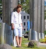 ショートパンツ メンズ ベルト付き ストライプ ショーツ ハーフパンツ 【w104】 スペード画像④