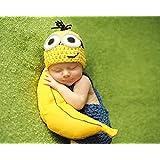 赤ちゃん コスチューム (ミニオンズ風) 0-6ヶ月(大)男女共用