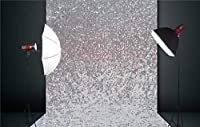 FidgetGear 5X6.5FT Silver Sequin Photo Backdrop,Wedding Photo Booth,Photography Background