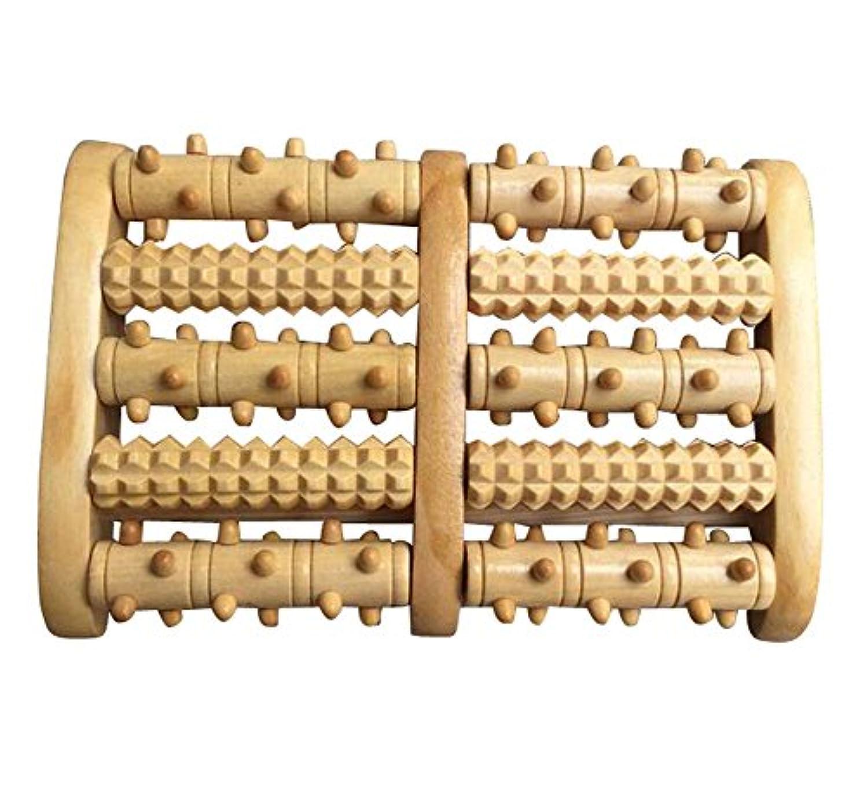 首尾一貫したにはまって補償便利なローラー式マッサージ器木製手芸品ローラーマッサージャー-5列/ 3