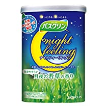 【医薬部外品】バスクリン ナイトフィーリング 気分やすらぐ月夜の若草の香り 600g 入浴剤