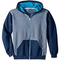 Fruit of the Loom Boys 12000B Fleece Full Zip Hoodie Sweatshirt Long Sleeve Hooded Sweatshirt - Multi