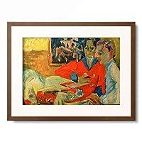 エルンスト・ルートヴィヒ・キルヒナー Ernst Ludwig Kirchner 「Morning Coffee」 額装アート作品
