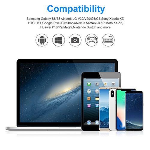 USB Type C ケーブル Amazer Tec USB C ケーブル 急速充電 高耐久ナイロン編み 7000回以上の曲折テスト Quick Charge 3.0 USB3.0ケーブル アンドロイド充電コード Xperia XZ、Huawei /P20/P10/P9、Aquos R、Galaxy S9/S9 Plus/ S8/S8 Plus、Nexus 5X/6P GoPro 6/5 Android タイプc対応 --0.2m ブラック