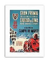 Race Car Gran Premio Peru GP 1959 Lima Sport Canvas Art Print