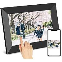 SCISHIONブラックWiFiデジタルフォトフレーム 1280*800高解像度タッチスクリーン IPS視野角16GB内部ストレージ 1080P写真/動画/音楽再生 家族/友人/彼女/彼氏などへのプレゼント装飾用—どこでもいつでも、アプリFrameoで喜びを分かち合おう 日本語説明書(7インチ)