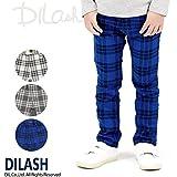 (ディラッシュ) DILASH先染めチェックストレッチツイルパンツ/春 ストレッチ パンツ 140 ブルー