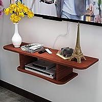 フローティングシェルフ ウォールシェルフ 壁掛け式 テレビキャビネット 棚 テレビの背景 ウォールデコレーション セットトップボックス ルーター DVD棚 テレビコンソール (色 : A, サイズ さいず : 80cm)