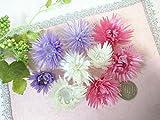 シルバーデイジー ヘッド ピンク&パープル&ホワイト 3色アソート