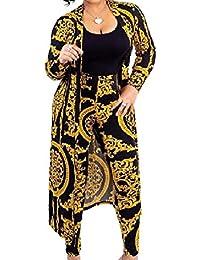 Romancly 女性ファッションレジャーラウンジフォークスタイル2ピーススーツセット衣装