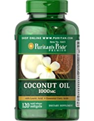 Puritan's Pride Coconut Oil 1000 mg-120 Softgels by Puritan's Pride [並行輸入品]