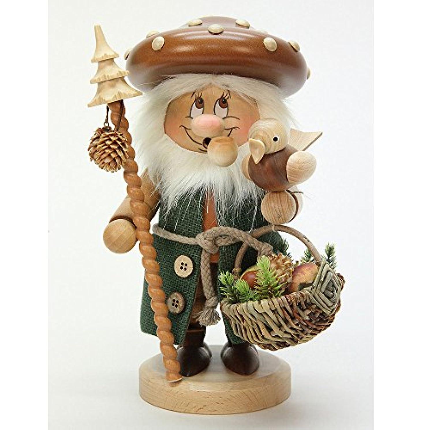 第三歩行者ムスタチオドイツ語喫煙者Incense GnomeマッシュルームMan – 27 cm / 11インチ – Christian Ulbricht