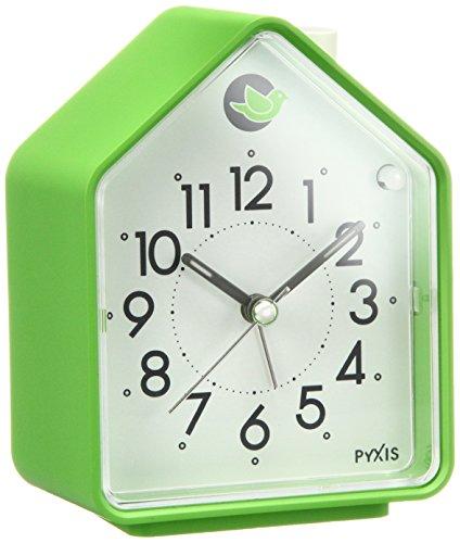 SEIKO  アラーム音切替(鳥の鳴き声)目覚まし時計(緑) NR434M
