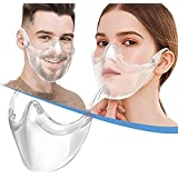 BeiYoYo Durable Clear Face Mask, Reusable Transparent Face Protection, Visible Expression,Breathable and Prevent Glasses Fog