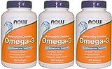 OMEGA 【バリュー3本セット】[海外直送品] NOW Foods 【お得サイズ】オメガ3 1000mg 200粒 Omega-3 200softgels [並行輸入品]