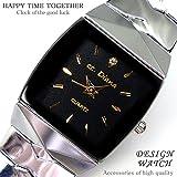 [スワンユニオン] swanunion 大人可愛いレディース腕時計 スクエア 黒 白 ゴールド 金 [tvs319-lady]