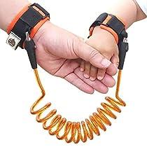 (ユニー) UNEEI 幼児用 迷子紐 迷子防止縄 チェアベルト 手つなぎ補助帯 リード ハーネス 外出用 (2歳~10歳児) オレンジ