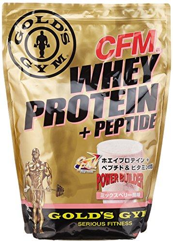 GOLD'S GYM ホエイプロテイン プラス ペプチド&ビタミンB ミックスベリー2000g